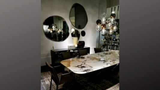 Immagine tavolo con piano in pietra naturale dal salone del mobile 2019