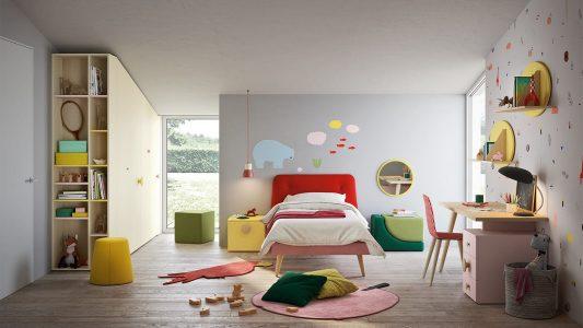 Immagine cameretta per bambini Nidi Battistella con letto colorato presso Arredamenti Boagno Savona