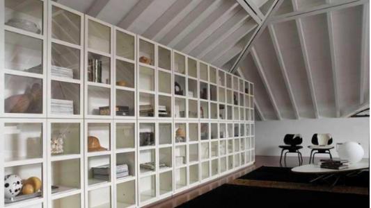Libreria Book in colore bianco, Arredamenti Boagno Savona