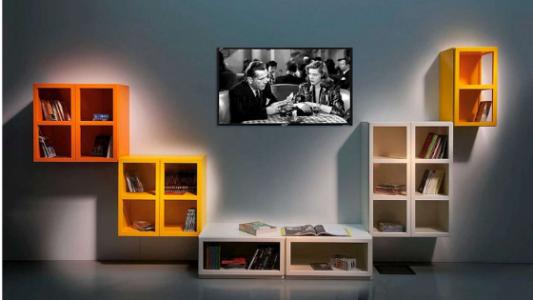 Book libreria palette giallo, Arredamenti Boagno Savona