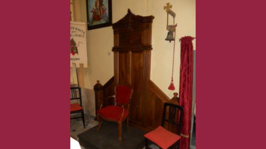 Boiserie realizzata da Luigi Boagno per la Chiesa di Santa Lucia in Savona