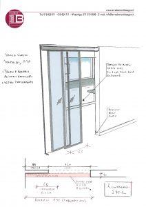 04_Porte_scorrevoli_Zemma_alluminio_vetro_trasparente_schizzo